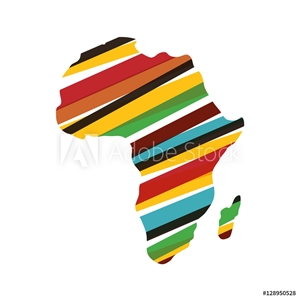 Bild på Africa map silhouette icon vector illustration graphic design