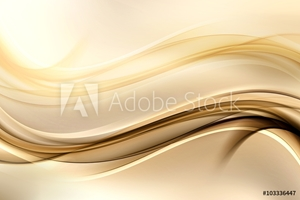Bild på Abstract background with gold lines and waves. Composition of shadows and lights