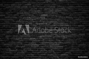 Bild på black brick wall, dark background for design