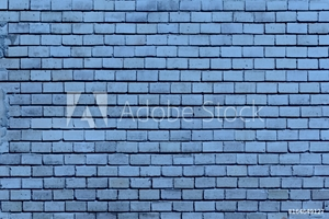 Bild på  cover texture old blue cracked brickwork