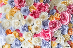 Bild på Backdrop of colorful paper roses