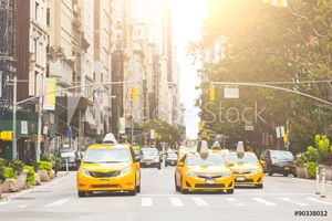 Bild på Typical yellow taxi in New York city